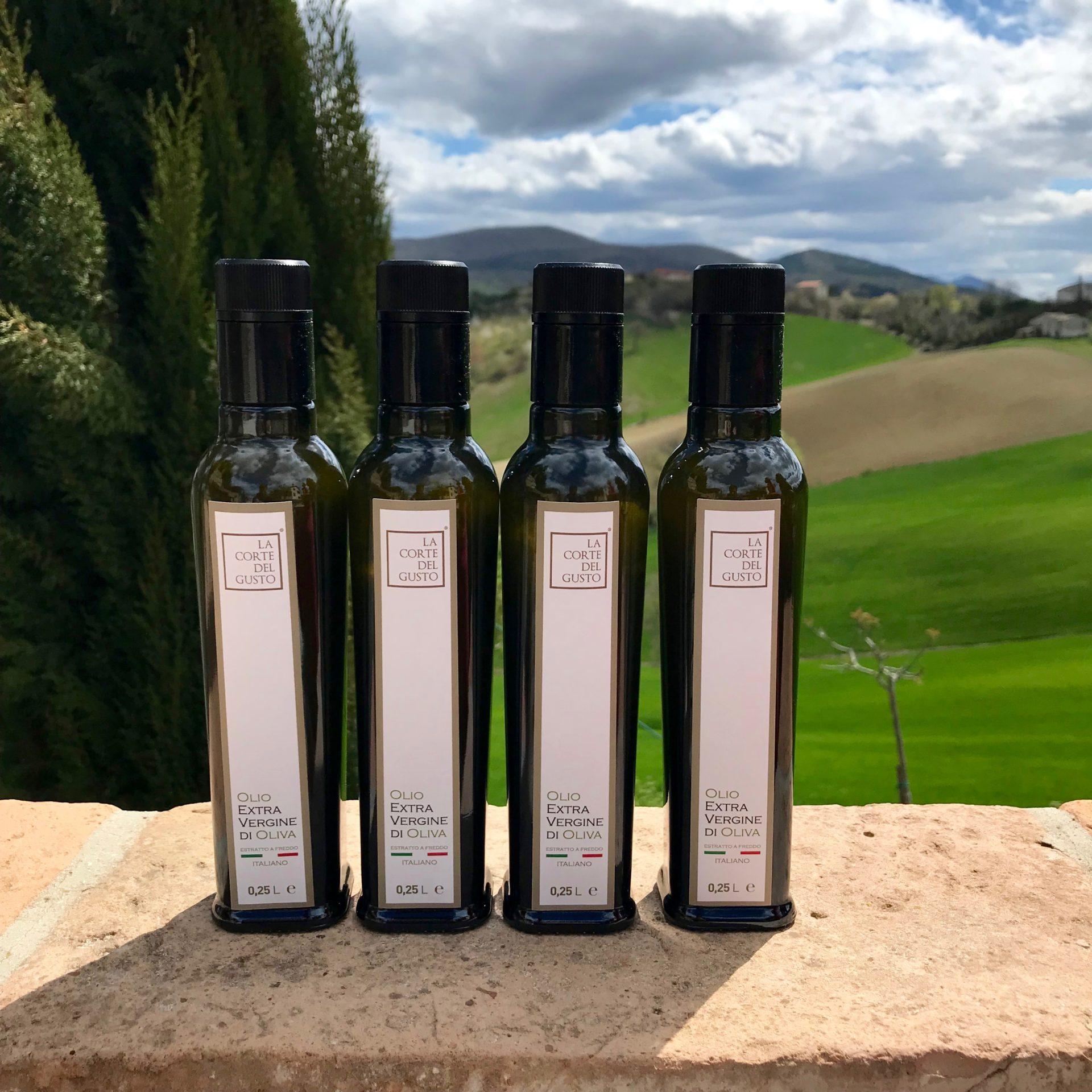 Olio Extra Vergine di Oliva La Corte del Gusto bottiglia da 0,25L